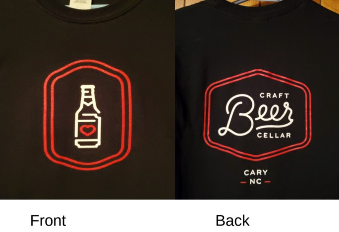 Beer Love Bottle T-shirt - Lg