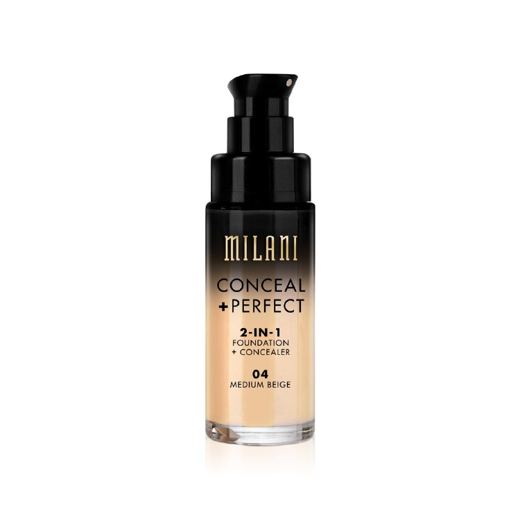 Milani Foundation Conceal+Perfect 2-IN-1 Foundation+Concealer  04 Medium Beige 30ml