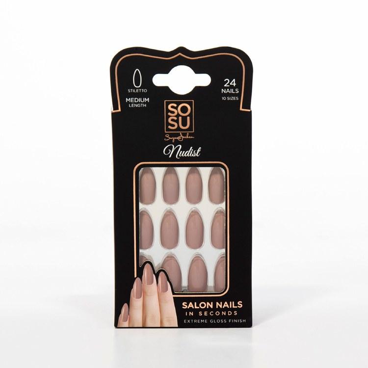 SoSu By SJ Salon Nails In Seconds Nudist (24 Nails)