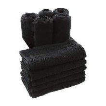 Aztex Hairdressing Towels 10 Pack Black