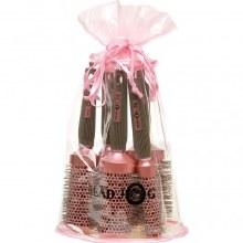 Head Jog Ionic Ceramic Pink Radiant Brush Set