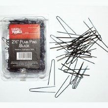 Hair Tools 2.5 Inch Plain Pins Black Content 500