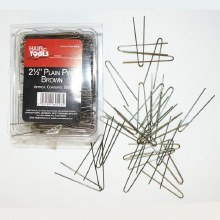 Hair Tools 2.5 Inch Plain Pins Brown Content 500