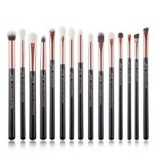Jessup Beauty 15Pc Makeup Brush set Black/Rose Gold  T157