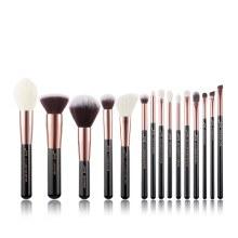 Jessup Beauty 15Pc Makeup Brush Set Black/Rose Gold T160