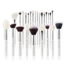 Jessup Beauty 25Pc Makeup Brush Set  White/Silver T235