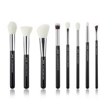 Jessup Beauty 8Pc Makeup Brush Set Black/Silver