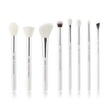 Jessup Beauty 8Pc Makeup Brush Set White/Silver T238