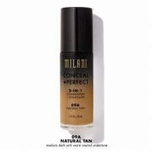 Milani Foundation Conceal+Perfect 2-IN-1 09A Natural Tan