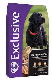 Exclusive Performance 30/20 Chicken & Brown Rice Formula Dog Food 35 lbs.