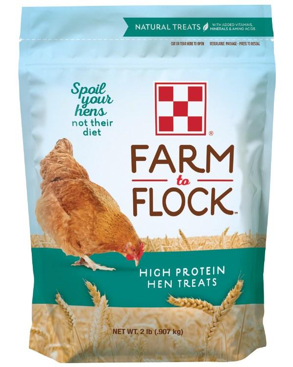 Purina Farm to Flock Hen Treats High Protein 2 lbs.