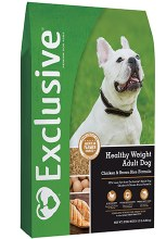 Exclusive Adult Healthy Weight Chicken & Brown Rice Formula 15 lbs.