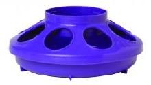 Little Giant Auto Feeder Base, Plastic 1 qt. Purple