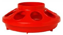 Little Giant Auto Feeder Base, Plastic 1 qt. Red