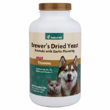 NaturVet Brewer's Dried Yeast with Garlic 1000 Tabs