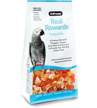 ZuPreem Real Rewards Tropical Mix for Large Birds 6 oz.