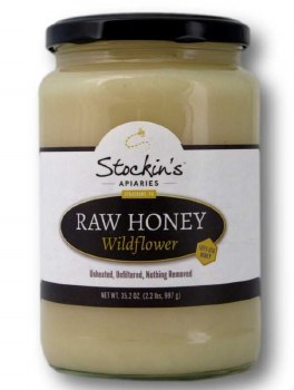 2.2 lbs Raw Wildfower Honey