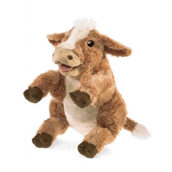 Brown Cow Folkmanis Brown Cow hand puppet