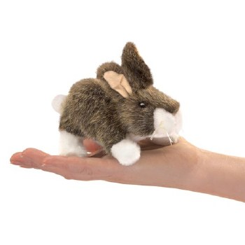 Cottontail Rabbit Folkmanis finger puppet