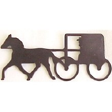Metal Horse And Buggy Magnet