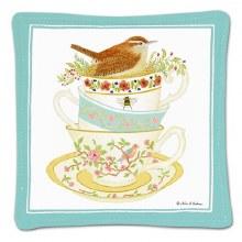 Bird In Cupspiced Mug Mat