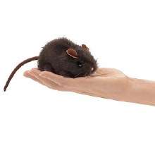 Brown Mouse Folkmanis finger puppet