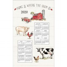 Country Life Calendar Towel