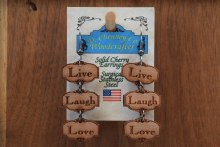 Earring Live Laugh Love