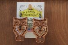 Earring Heart Owl