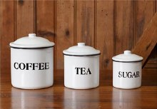Enamelware Canister set of 3