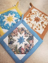 Folded Star Potholders