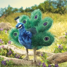 Small Peacock Folkmanis Peacock hand puppet