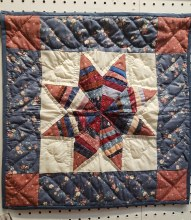 8 Pointed Patch Star Wall Hanging