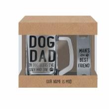 Dog Dad Glass Stein & Opener