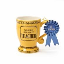 Greatest Teacher Trophy Mug