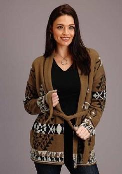 Cardigan Aztec Sweater Large