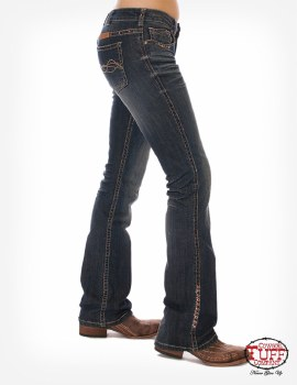 "Cowgirl Tuff Co. ""Western Coral"" Jeans"