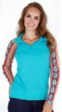 Cowgirl Tuff Co. Turquoise w/ Aztec Cadet Zip X Small