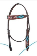 Aztec Beaded Browband Headstall by Oxbow