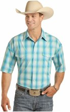 Panhandle Men's Short Sleeve Snap Small