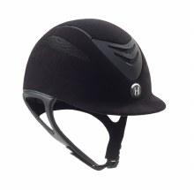 One K Defender Suede Black Long Oval Helmet Size Medium