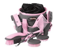 7 pc Grooming Kit Pink Gray