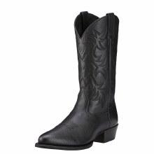 Ariat Heritage R Toe Western Boot Black DeerTan 9 D
