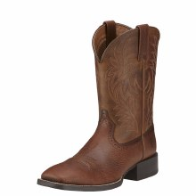 Ariat Sport Wide Square Toe Western Boot Fiddle Brown