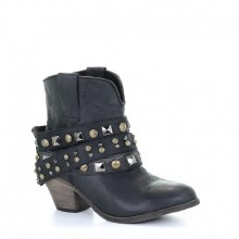 Corral Short Womens Boot with Studded Bracelet in Black Size 7.5