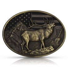 Montana Silversmiths Elk Belt Buckle