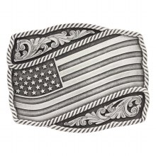Montana Silversmiths Waving Flag Buckle