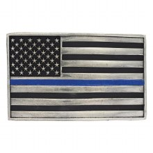 Montana Silversmiths Thin Blue Line Belt Buckle