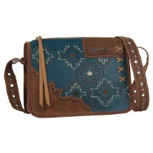 Catchfly Fate Crossbody with Turquoise Embroidery