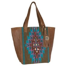 Catchfly Kylie Tote Hand Woven Aztec